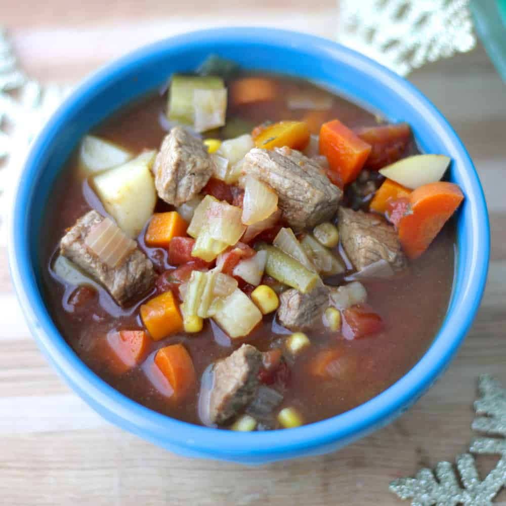 Beef and Vegetable Soup from Living Well Kitchen