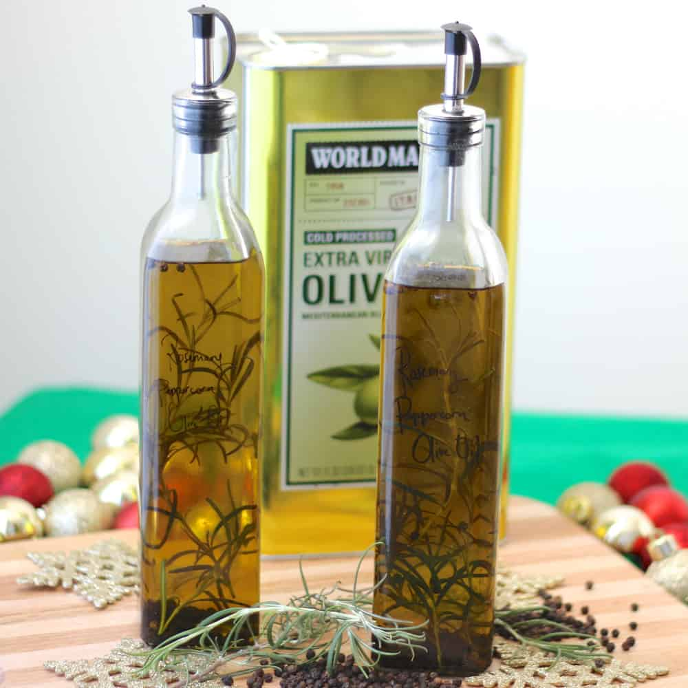 Rosemary Peppercorn Infused Olive Oil from Living Well Kitchen