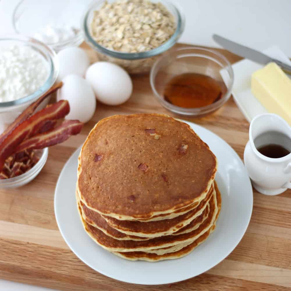Bacon Protein Pancakes from Living Well Kitchen
