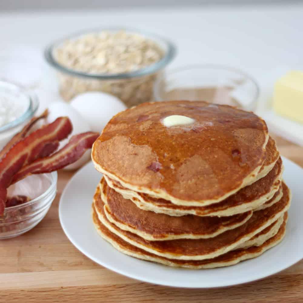 pancake and bacon breakfast - photo #36