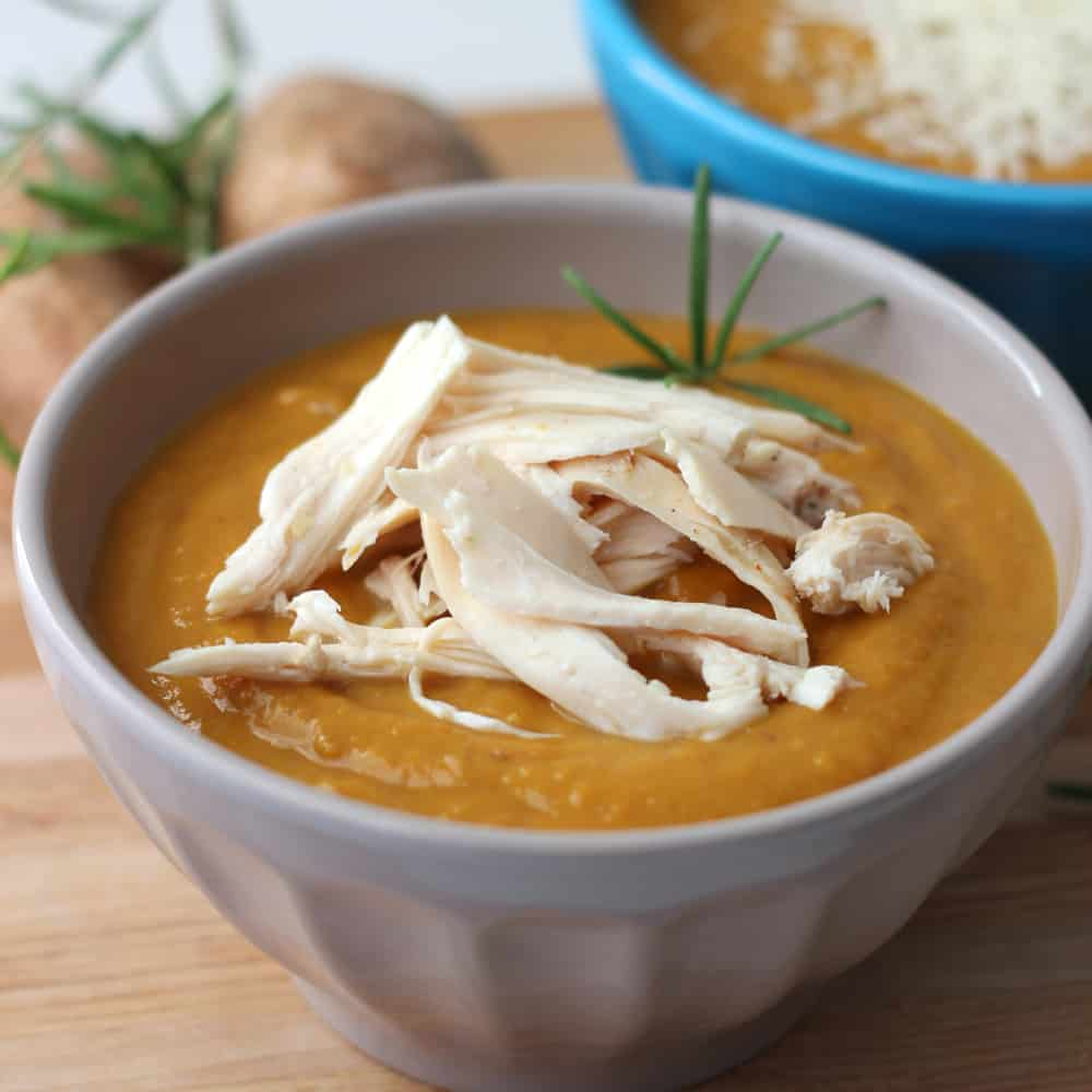 Crock Pot Sweet Potato Bisque from Living Well Kitchen