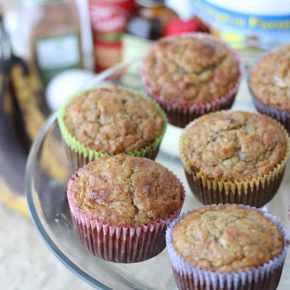 Banana Almond Muffins from Living Well Kitchen