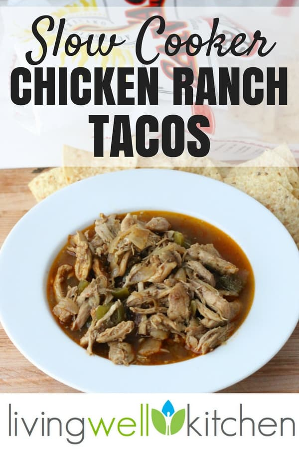 These Slow Cooker Chicken Ranch Tacos are proof that you don't have to spend a lot of money to cook a nourishing, easy, and delicious meal that everyone will enjoy