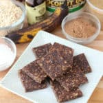 No Bake Cocoa Banana Bars from Living Well Kitchen
