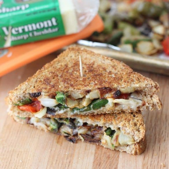Roasted Veggie Grilled Cheese from Living Well Kitchen
