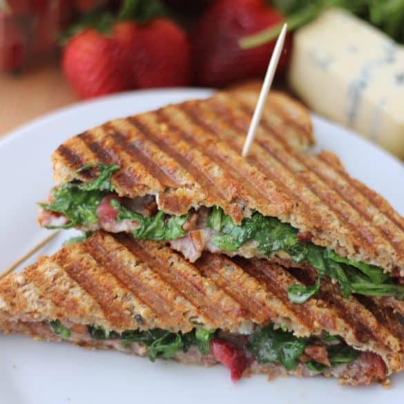 My Favorite Grilled Cheese ~ Cambozola Grilled Cheese from Living Well Kitchen