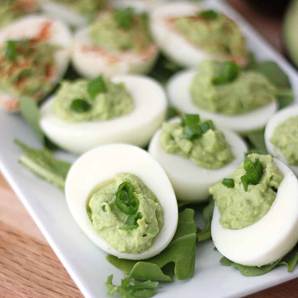 Avocado Deviled Eggs from Living Well Kitchen