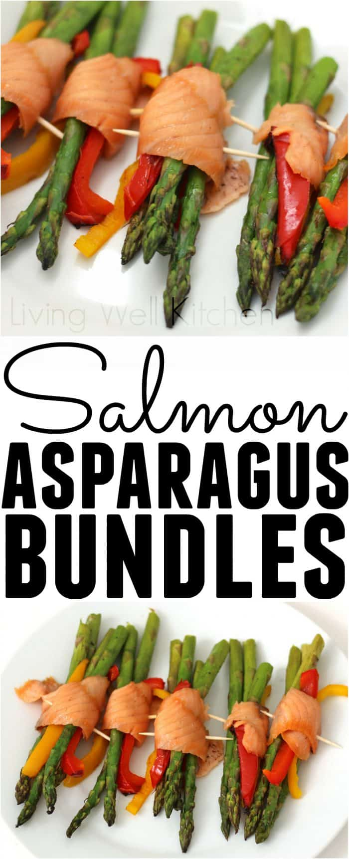 Salmon Asparagus Bundles from @memeinge are a tasty, simple, elegant, and healthy appetizer or light lunch. Gluten free, dairy free, and low carb, these are a protein filled meal that will nourish your body while tasting great!