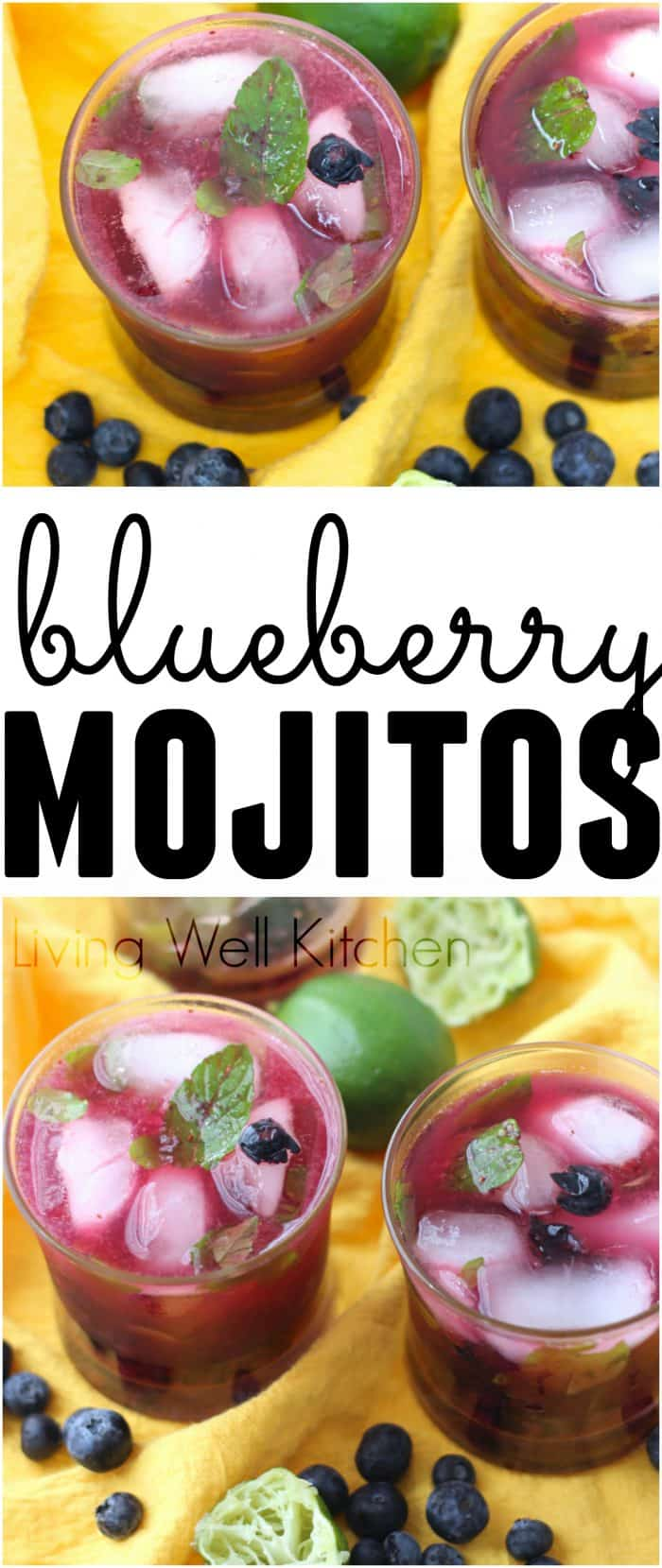 Juicy blueberries, muddled mint, fresh squeezed lime juice, an optional dash of sugar, club soda, and rum make this fabulous warm weather drink. An easy recipe for one or you can multiply to make more