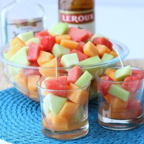 Tequila Melon Salad from Living Well Kitchen