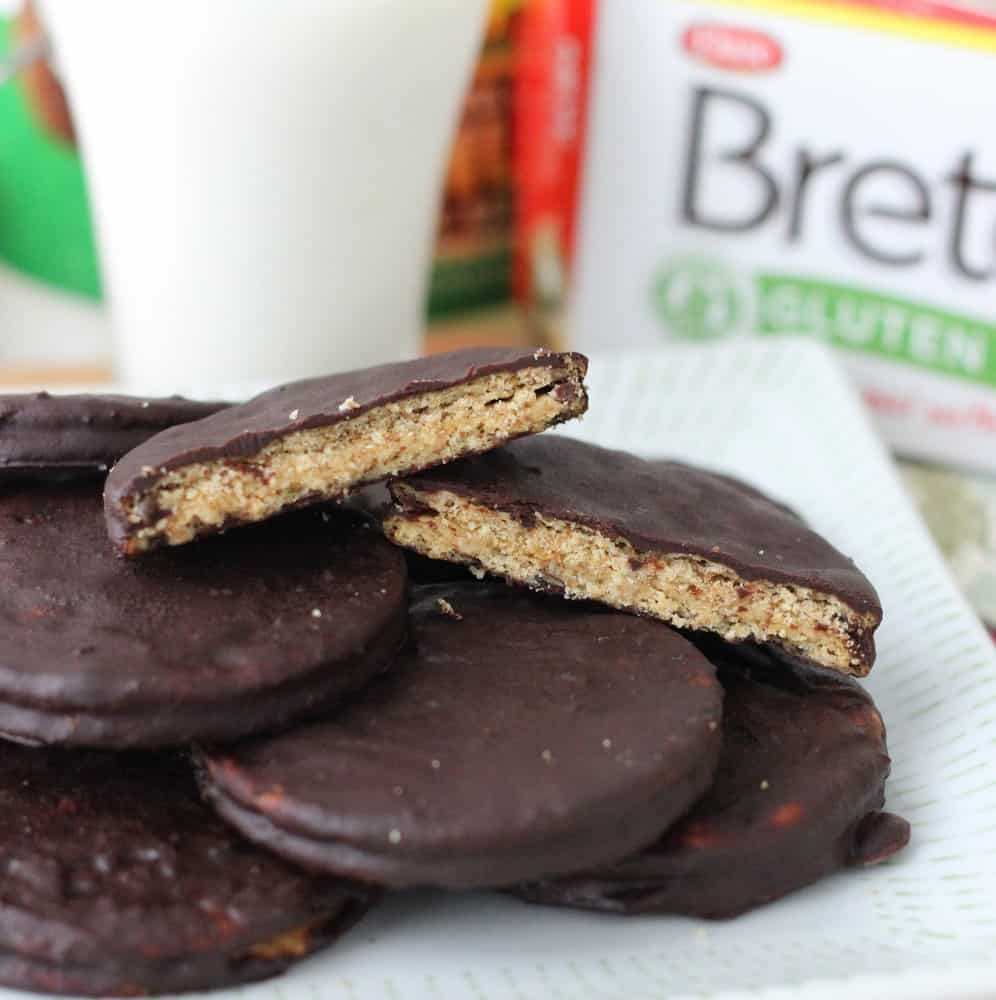 Chocolate Covered Almond Butter Cracker Cookies from Living Well Kitchen