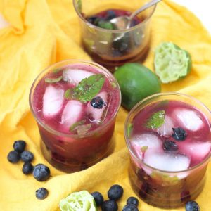 Blueberry Mojitos from Living Well Kitchen
