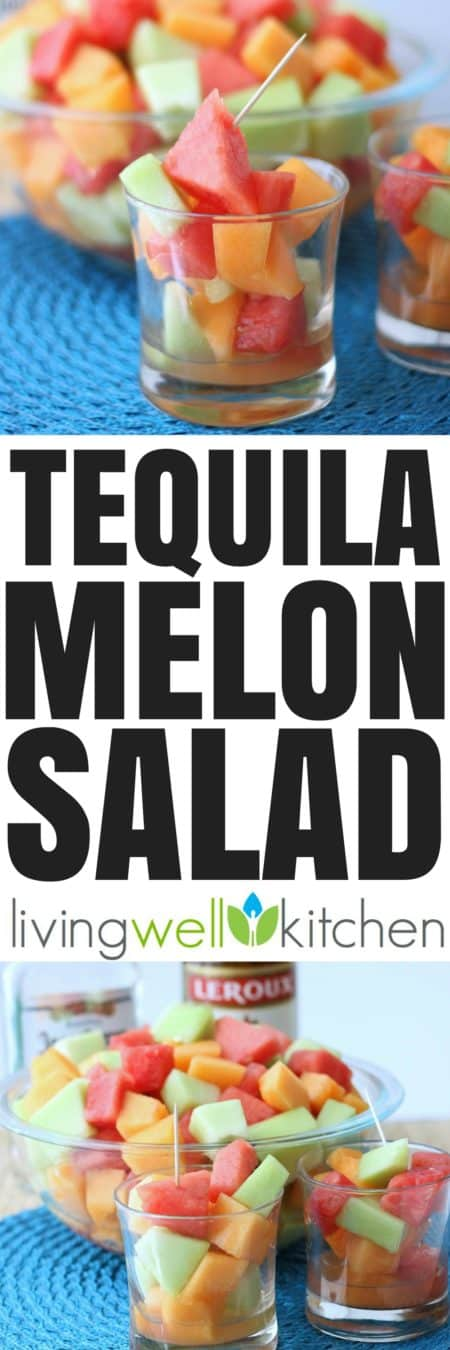 "Tequila intoxicated melon is a glorious way to celebrate Cinco de Mayo or just to enjoy on a warm day. This ""salad"" is quite refreshing. Tequila Melon Salad recipe from @memeinge is great for parties and is a fun adult only treat. Gluten free, dairy free"
