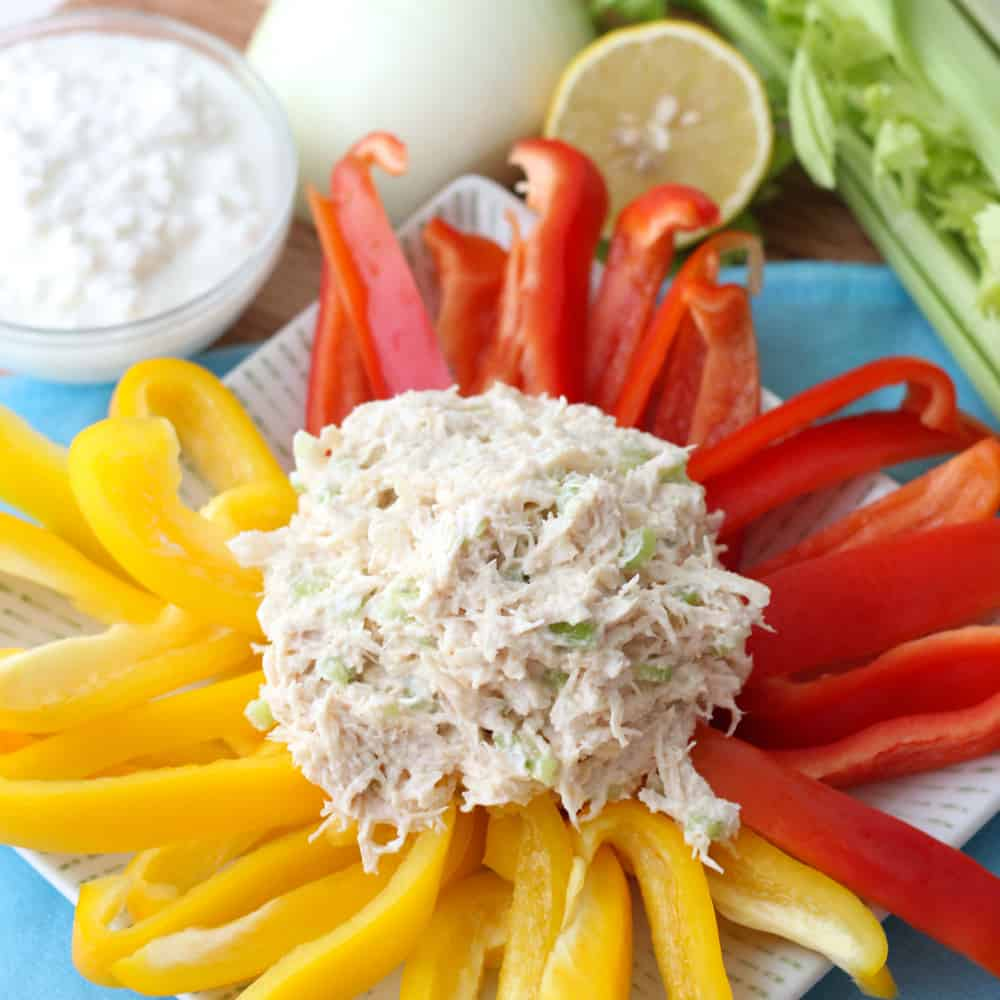 Lightly seasoned and packed with lean protein, this is chicken salad perfection that you can feel good about eating. Mayo free Chicken Salad recipe from @memeinge
