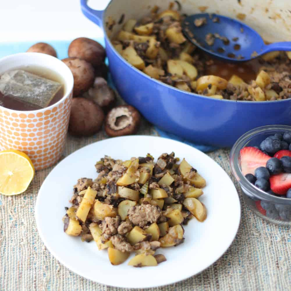 Mushroom & Sausage Hash from Living Well Kitchen