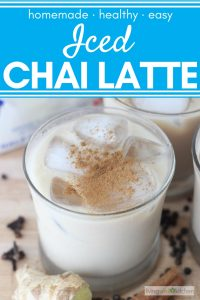 chai latte sprinkled with cinnamon