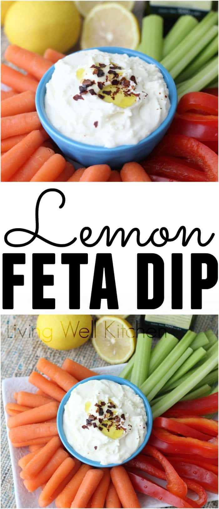 Lemon Feta Dip from @memeinge is an incredibly easy and really tasty dip that has only 5 ingredients and takes less than 5 minutes to prepare