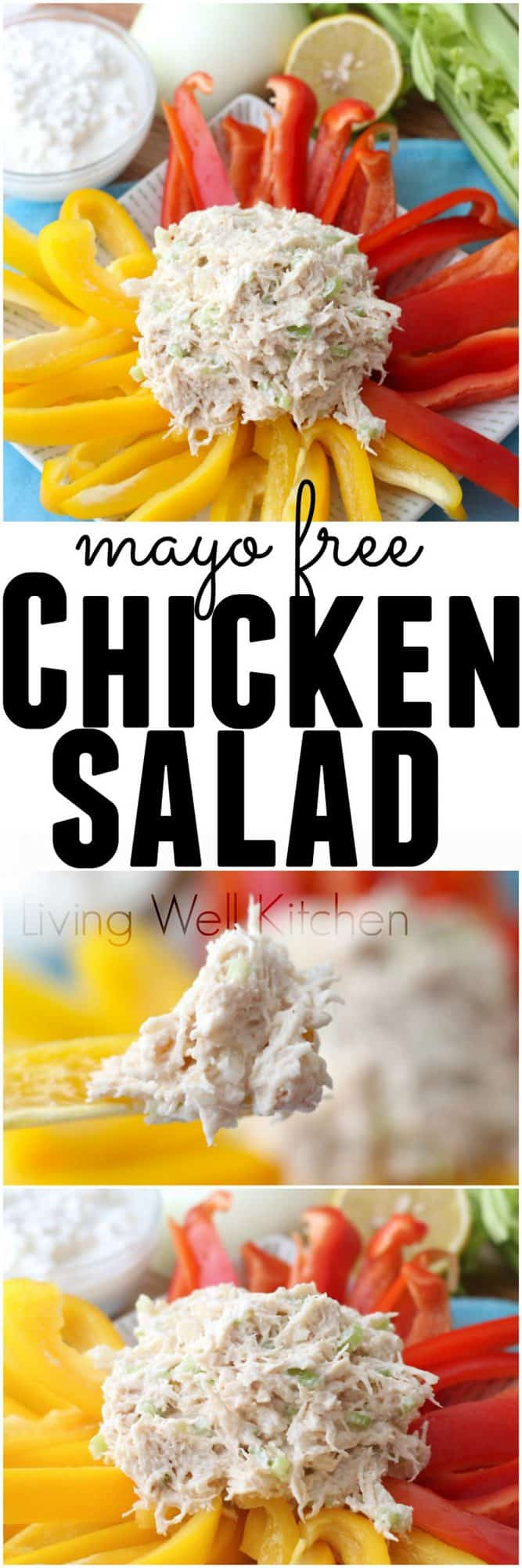 Chicken Salad recipe from @memeinge is lightly seasoned, packed with lean protein and made without mayo. It's chicken salad perfection. Naturally gluten free