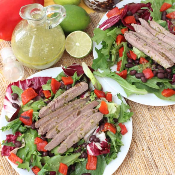 Cilantro Lime Steak Salad from Living Well Kitchen