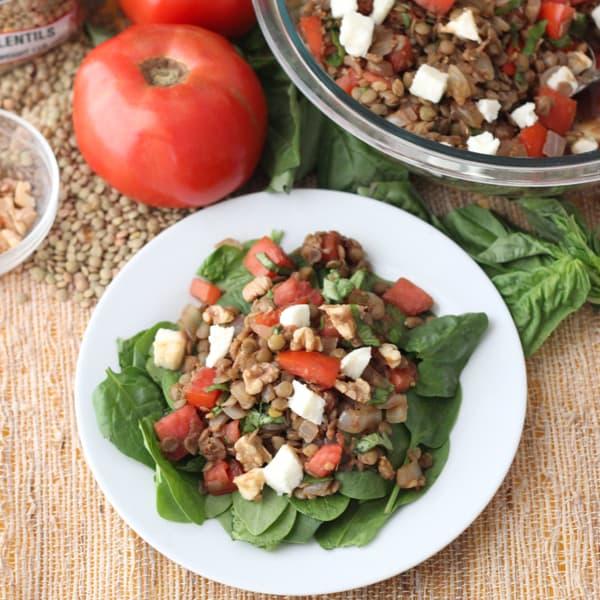 Caprese Lentil Salad from Living Well Kitchen