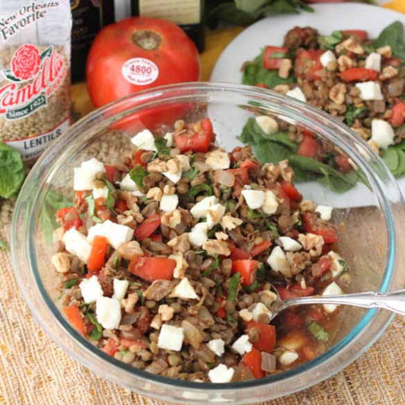 Caprese Lentil Salad from Living Well Kitchen