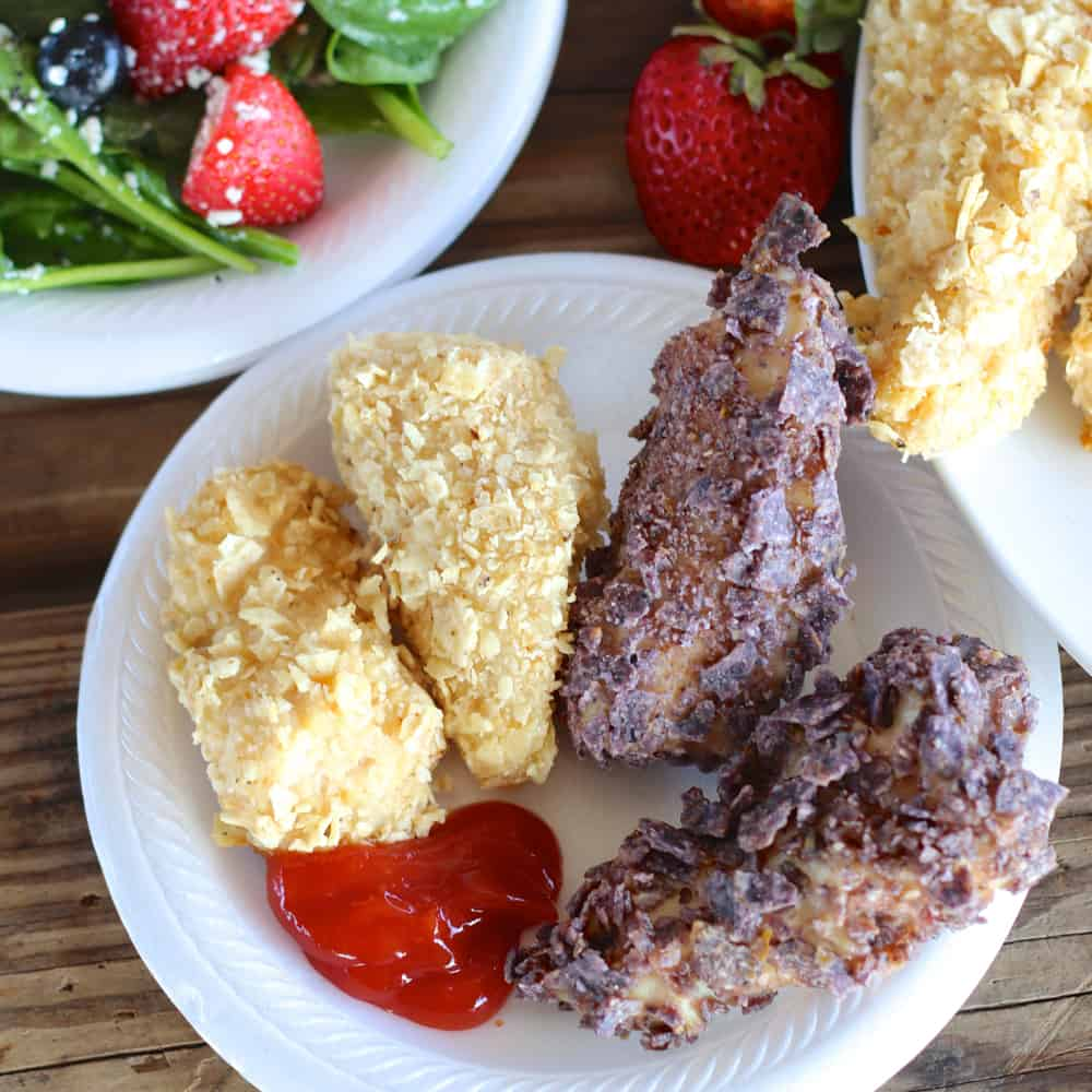 Patriotic Chicken Fingers from Living Well Kitchen