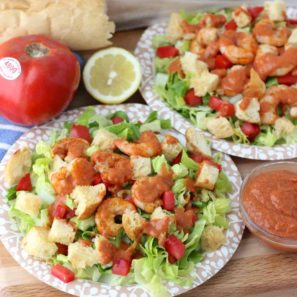 Shrimp Po' Boy Salad from Living Well Kitchen