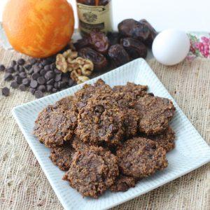 Walnut Chocolate Chip Cookies from Living Well Kitchen #glutenfree #cookie #dessert #healthier