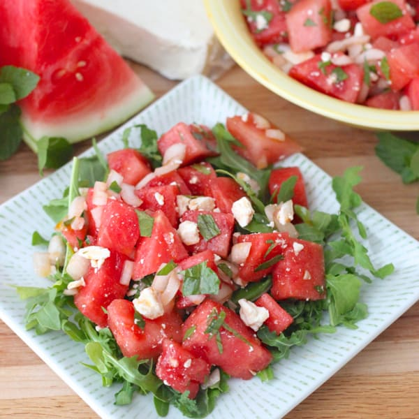 Chopped Vegetable, Watermelon And Feta Salad Recipes — Dishmaps