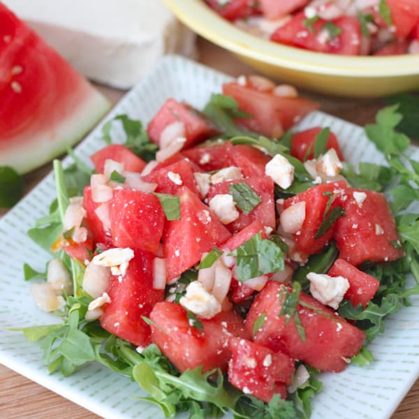 watermelon feta salad living well kitchen. Black Bedroom Furniture Sets. Home Design Ideas