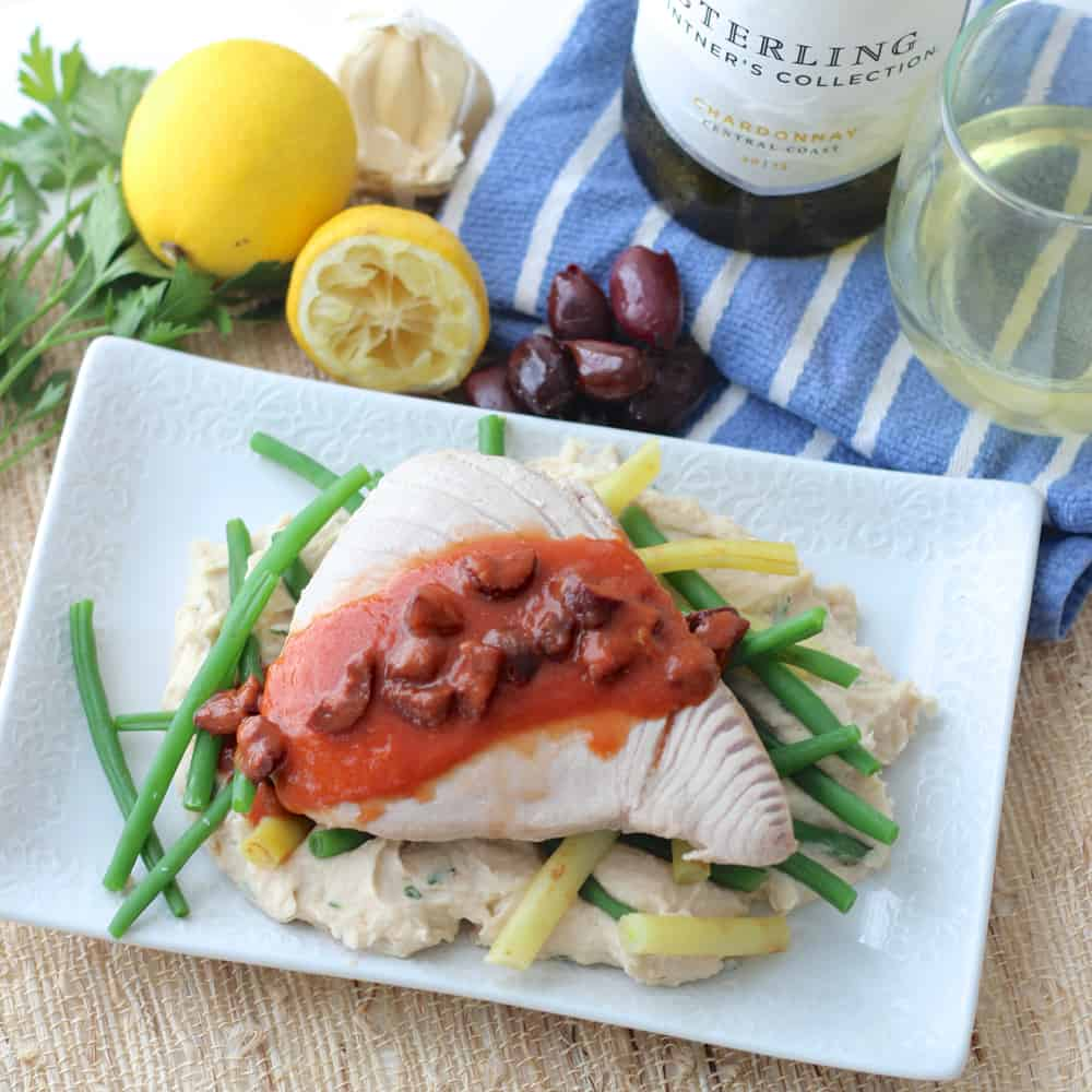 White Wine Poached Tuna from Living Well Kitchen
