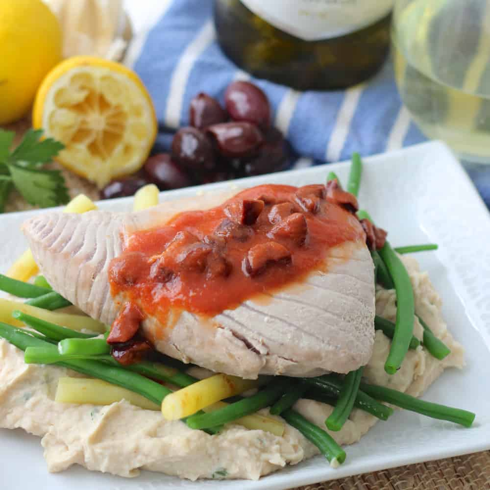 White Wine Poached Tuna from Living Well Kitchen #RecipeReDux