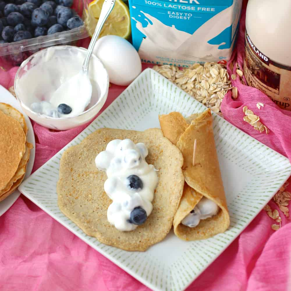 Blueberry and Yogurt Crepes from Living Well Kitchen