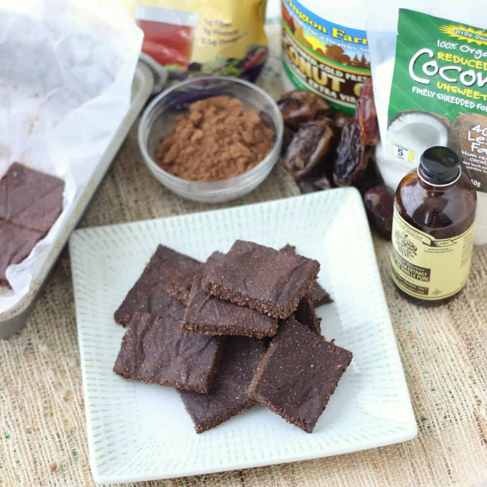 Chocolate Coconut Chia Bars from Living Well Kitchen1