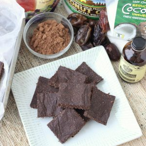 Chocolate Coconut Chia Bars from Living Well Kitchen