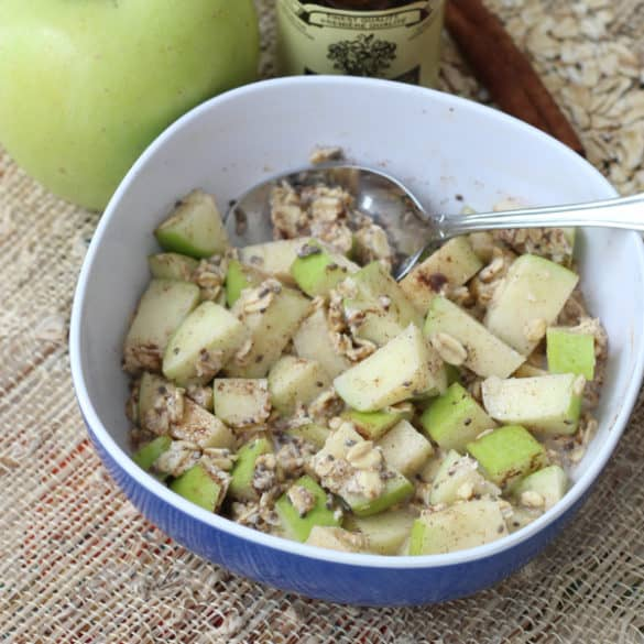 Cinnamon Apple Overnight Oats from Living Well Kitchen