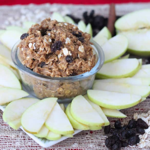 Oatmeal Raisin Cookie Dough Dip from Living Well Kitchen