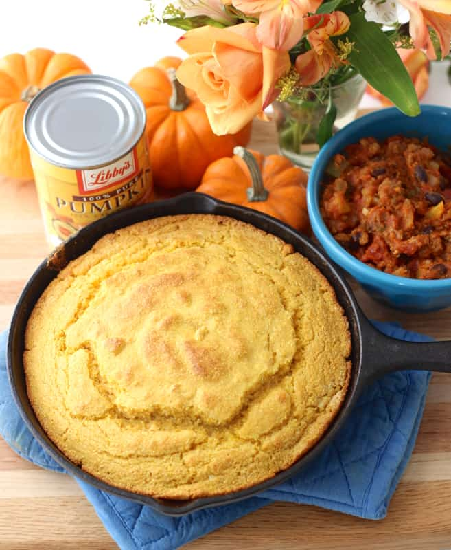 Pumpkin and white whole wheat flour help improve the nutritional value of this Southern standard while keeping the delicious flavor and slightly crumbly texture