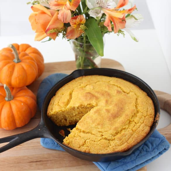 Pumpkin Cornbread recipe from Living Well Kitchen