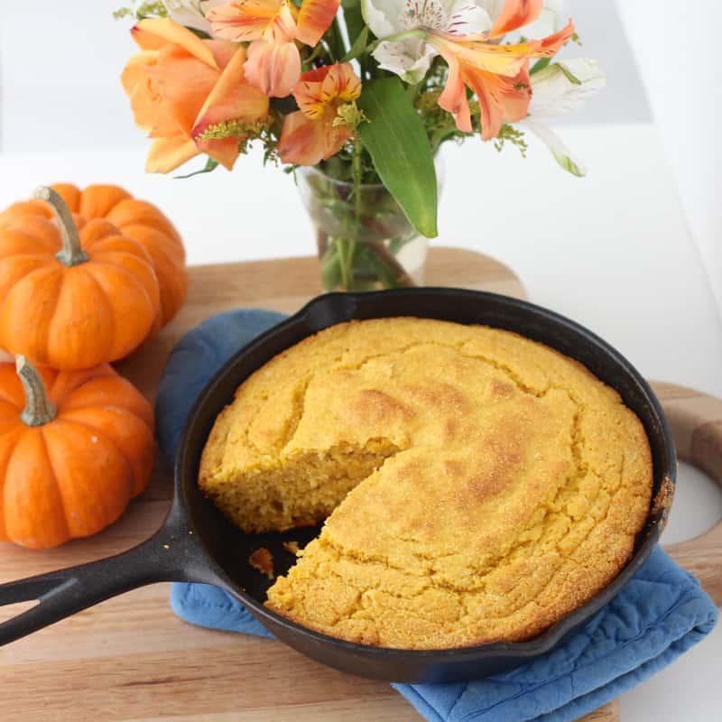 Pumpkin Cornbread recipe from Living Well Kitchen