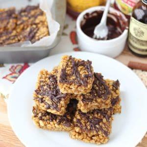 Almond Butter and Pumpkin Rice Crispy Treats from Living Well Kitchen