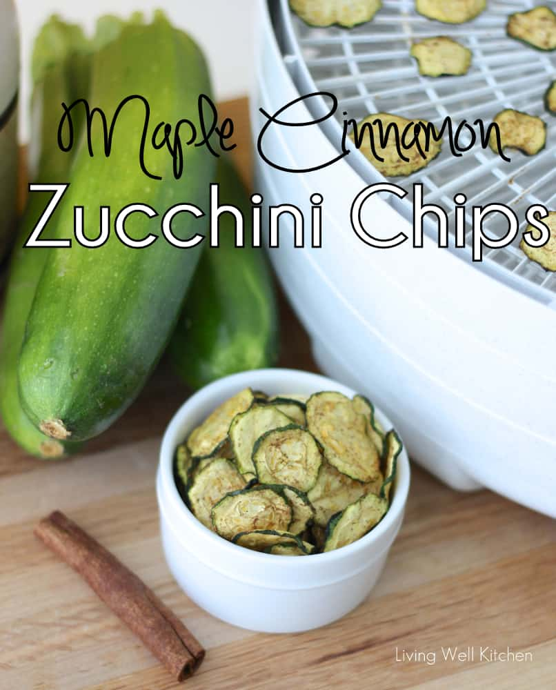 Maple Cinnamon Zucchini Chips from Living Well Kitchen