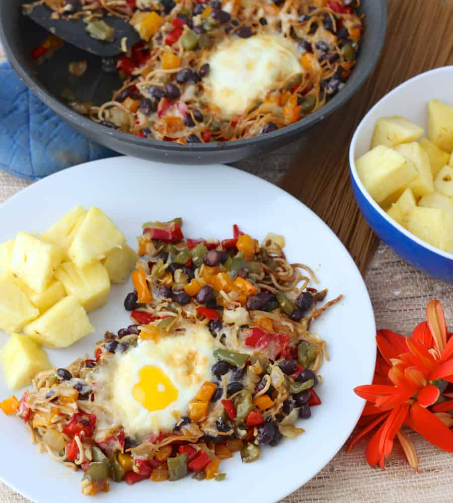 Mexican Breakfast Pasta recipe from Living Well Kitchen