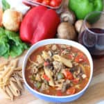 Pizza Pasta Soup from Living Well Kitchen