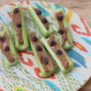 almond butter and celery ~ Pre-Run Snack ideas from Living Well Kitchen @memeinge