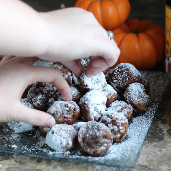 Pumpkin Donut Holes from Living Well Kitchen