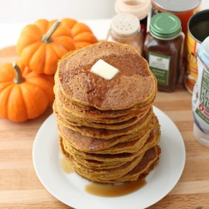 Pumpkin Protein Pancakes from Living Well Kitchen blog @memeinge