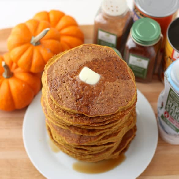 Pumpkin Protein Pancakes from Living Well Kitchen