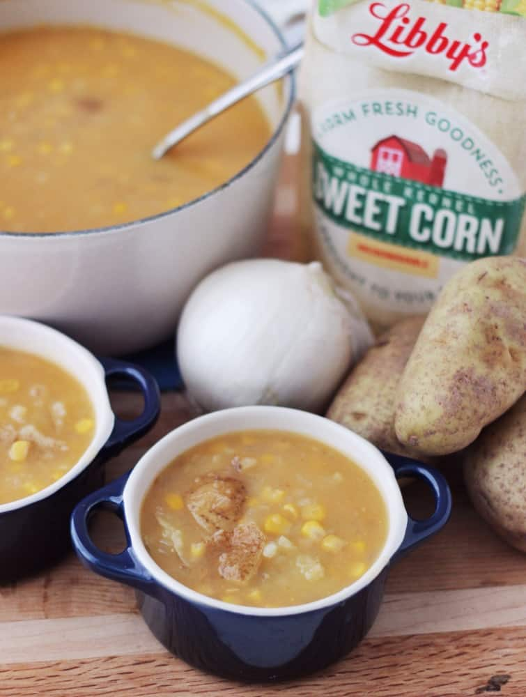 Corn and Potato Soup from Living Well Kitchen #ad from @memeinge