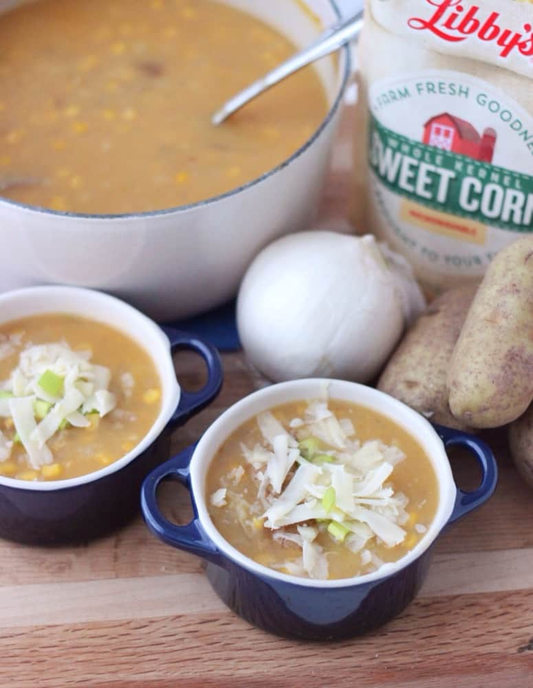 Corn and Potato Soup from Living Well Kitchen #ad